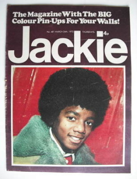 Jackie magazine - 24 March 1973 (Issue 481 - Michael Jackson cover)