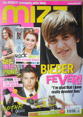 MIZZ magazine - Justin Bieber cover (16-29 September 2010)