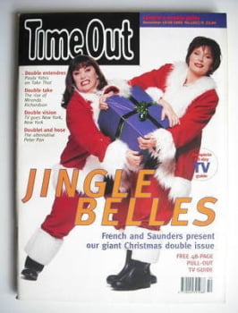 Time Out magazine - Dawn French and Jennifer Saunders cover (15-29 December 1993)