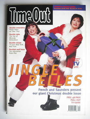 <!--1993-12-15-->Time Out magazine - Dawn French and Jennifer Saunders cove