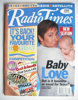 <!--1994-01-08-->Radio Times magazine - Zoe Wanamaker cover (8-14 January 1