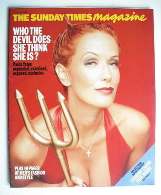 <!--1995-10-15-->The Sunday Times magazine - Paula Yates cover (15 October