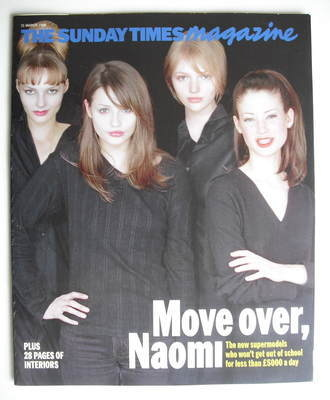 <!--1996-03-31-->The Sunday Times magazine - Move over, Naomi cover (31 Mar