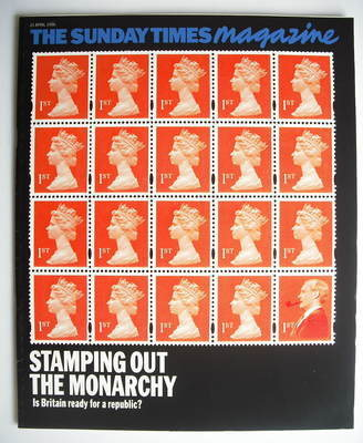<!--1996-04-21-->The Sunday Times magazine - Stamping Out The Monarchy cove