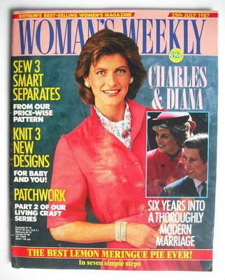 <!--1987-07-25-->Woman's Weekly magazine (25 July 1987 - British Edition)