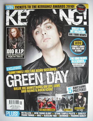 <!--2010-05-29-->Kerrang magazine - Billie Joe Armstrong cover (29 May 2010