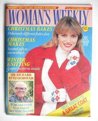 <!--1987-11-21-->Woman's Weekly magazine (21 November 1987 - British Editio