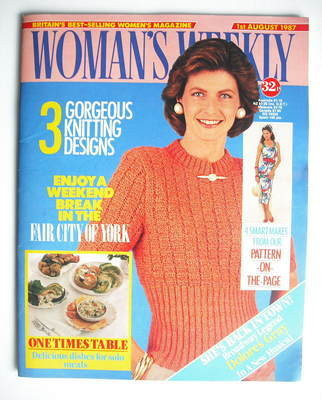 <!--1987-08-01-->Woman's Weekly magazine (1 August 1987 - British Edition)