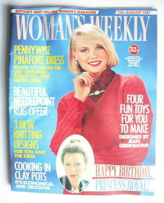 <!--1987-08-15-->Woman's Weekly magazine (15 August 1987 - British Edition)