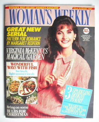 <!--1987-08-22-->Woman's Weekly magazine (22 August 1987 - British Edition)