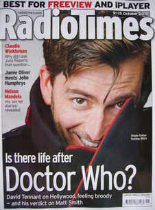 <!--2010-10-09-->Radio Times magazine - David Tennant cover (9-15 October 2