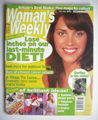 <!--2003-07-01-->Woman's Weekly magazine (1 July 2003)