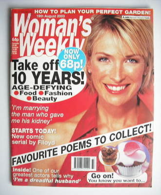 <!--2003-08-19-->Woman's Weekly magazine (19 August 2003)