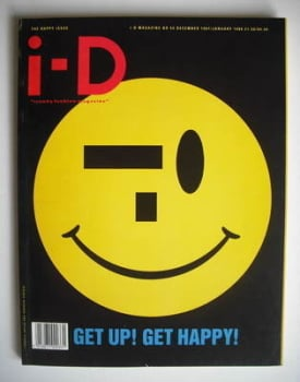 i-D magazine - Get Up Get Happy cover (December 1987/January 1988)