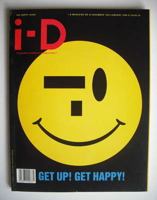 <!--1987-12-->i-D magazine - Get Up Get Happy cover (December 1987/January
