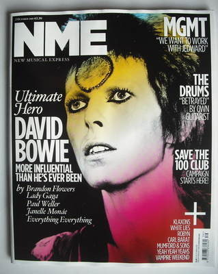 <!--2010-10-02-->NME magazine - David Bowie cover (2 October 2010)