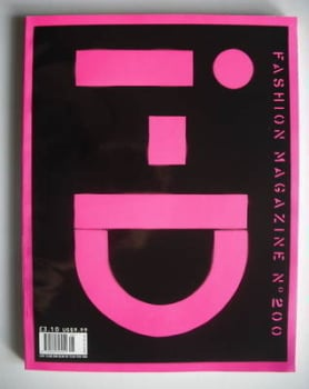 i-D magazine - 20/200/2000 cover (August 2000)