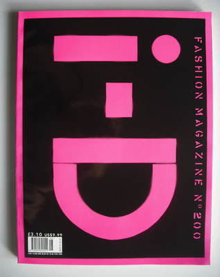 <!--2000-08-->i-D magazine - 20/200/2000 cover (August 2000)