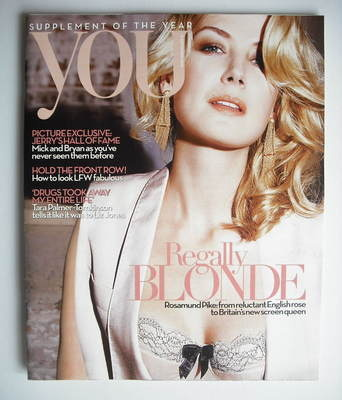 <!--2010-09-19-->You magazine - Rosamund Pike cover (19 September 2010)