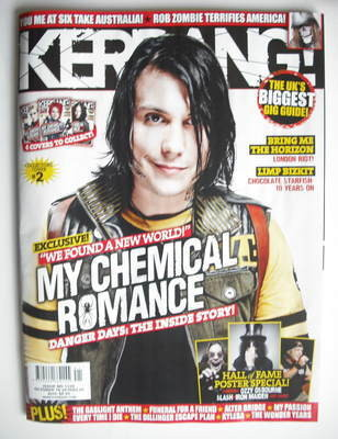 <!--2010-10-16-->Kerrang magazine - Frank Iero cover (16 October 2010 - Iss