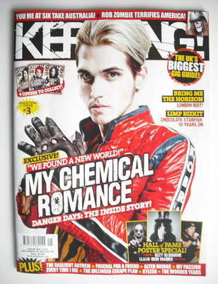 <!--2010-10-16-->Kerrang magazine - Mikey Way cover (16 October 2010 - Issu