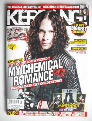 <!--2010-10-16-->Kerrang magazine - Ray Toro cover (16 October 2010 - Issue