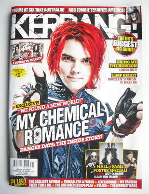 <!--2010-10-16-->Kerrang magazine - Gerard Way cover (16 October 2010 - Iss