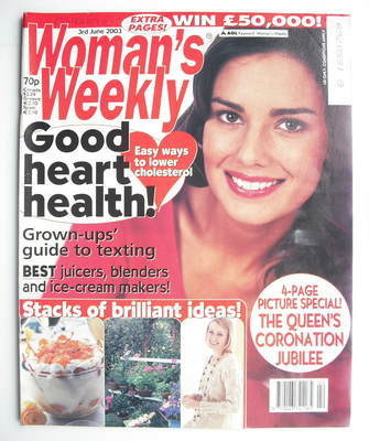 <!--2003-06-03-->Woman's Weekly magazine (3 June 2003)