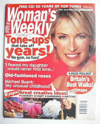 <!--2003-06-24-->Woman's Weekly magazine (24 June 2003)