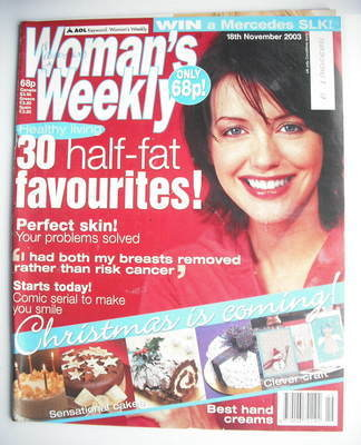<!--2003-11-18-->Woman's Weekly magazine (18 November 2003)