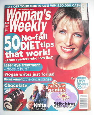 <!--2003-02-11-->Woman's Weekly magazine (11 February 2003)