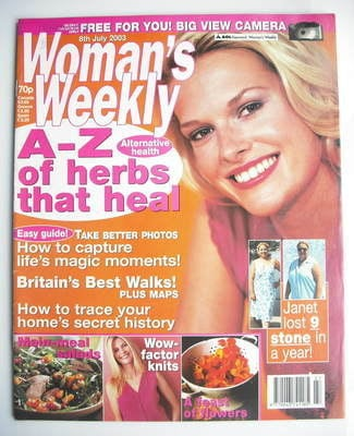 <!--2003-07-08-->Woman's Weekly magazine (8 July 2003)