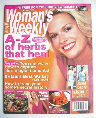 <!--2003-07-08-->Woman's Weekly magazine (8 July 2003)