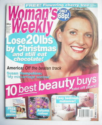 <!--2003-10-07-->Woman's Weekly magazine (7 October 2003)