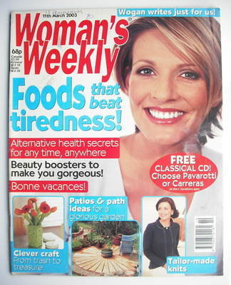 <!--2003-03-11-->Woman's Weekly magazine (11 March 2003)