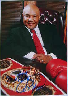George Foreman autograph