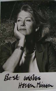 Helen Mirren autograph (hand-signed photograph)
