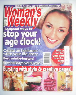 <!--2003-02-18-->Woman's Weekly magazine (18 February 2003)