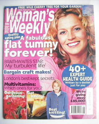 <!--2003-02-25-->Woman's Weekly magazine (25 February 2003)