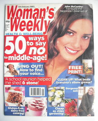 <!--2003-02-04-->Woman's Weekly magazine (4 February 2003)