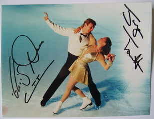 Jayne Torvill and Christopher Dean autograph