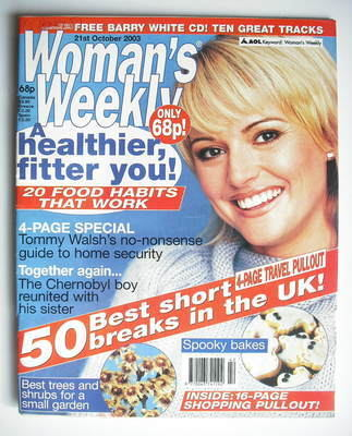 <!--2003-10-21-->Woman's Weekly magazine (21 October 2003)