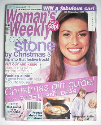 <!--2003-11-04-->Woman's Weekly magazine (4 November 2003)