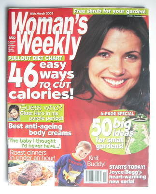 <!--2003-03-18-->Woman's Weekly magazine (18 March 2003)