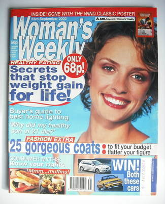 <!--2003-09-23-->Woman's Weekly magazine (23 September 2003)