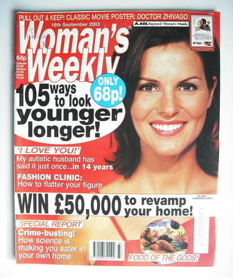 <!--2003-09-16-->Woman's Weekly magazine (16 September 2003)