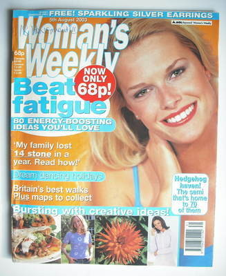 <!--2003-08-05-->Woman's Weekly magazine (5 August 2003)