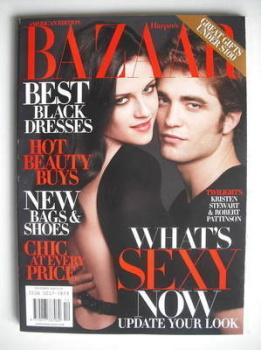 Harper's Bazaar magazine - December 2009 - Robert Pattinson and Kristen Stewart cover (US Edition)
