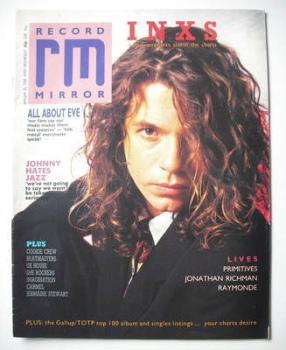 Record Mirror magazine - Michel Hutchence cover (30 January 1988)