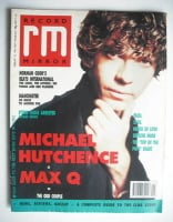 <!--1990-02-10-->Record Mirror magazine - Michael Hutchence cover (10 February 1990)